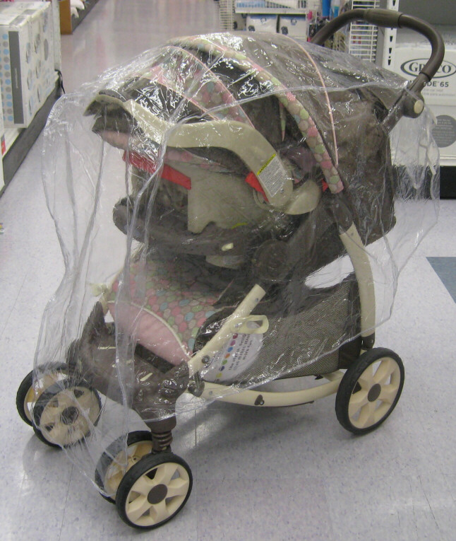 Single Stroller Travel System Rain And Wind Covers From