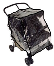 Double Stroller Rain and Wind Covers from Sasha's - (888) 640 0917